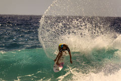 Surfing  Quiksilver & Roxy Pro World Title Event. Royalty Free Stock Images