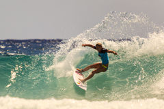 Surfing Quiksilver Royalty Free Stock Photo