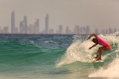 Surfing Quiksilver Stock Photo