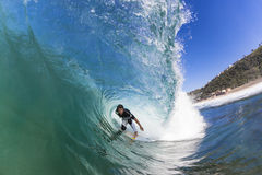 Surfing Rider Hollow Wave Stock Photography