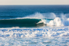 Surfing Rider Wave Wall Royalty Free Stock Images