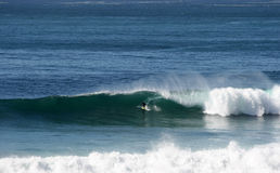 Surfing in Salsipuedes,Baja,Mexico Royalty Free Stock Photography