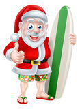 Surfing Santa Stock Photos
