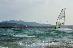 Surfing Sardinia Stock Image