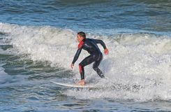 Surfing At Sebastian Inlet In Florida Stock Photos