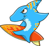 Surfing Shark Vector Royalty Free Stock Photo