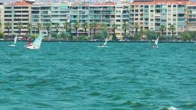Surfing Sport in Izmir Turkey. Video stock video footage