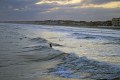 Surfing Before the Storm Royalty Free Stock Photography