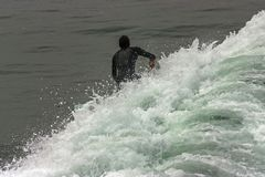 Pacific Surfer in San Diego. Royalty Free Stock Photos