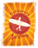 Surfing styled illustration Royalty Free Stock Photo