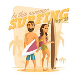 Surfing in this summer. Enjoy it Stock Photography