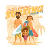 Surfing in this summer. Enjoy it Royalty Free Stock Image