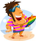 Surfing on Summer Holiday Stock Photos