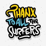 Surfing Surf Thank You Sign Label for Promotion Ads t shirt or sticker Poster Flyer Design Vector Image.