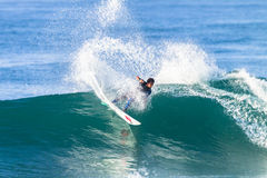 Surfing Surfer Ride Action Royalty Free Stock Photo