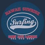 Surfing t-shirt graphic design Stock Photo