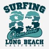 Surfing t-shirt graphic design Stock Photos