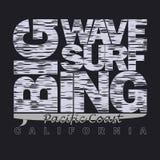 Surfing t-shirt graphic design. Stock Photos