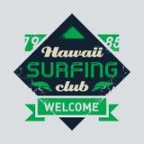 Surfing tee vintage design. Vector illustration Stock Photography