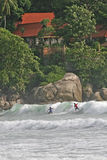 Surfing in Thailand Royalty Free Stock Image