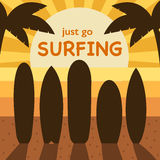 Surfing Time Concept Illustration Royalty Free Stock Photography