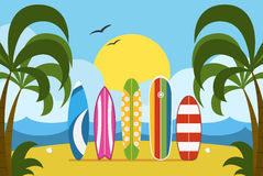 Surfing Time Concept Illustration Stock Photography