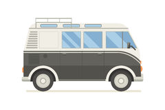 Surfing Tourist Summer Bus Vector Icon Stock Images