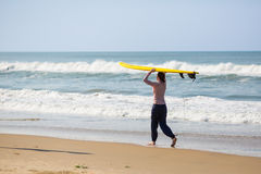 Surfing in Varkala Stock Photo