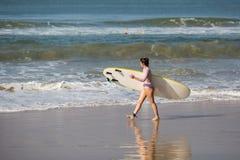 Surfing in Varkala Stock Image