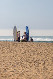 Surfing in Varkala Royalty Free Stock Images