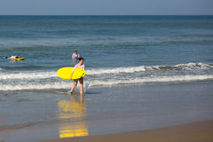 Surfing in Varkala Stock Photography