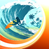 Surfing vector Royalty Free Stock Images