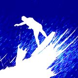 Surfing vector Stock Images