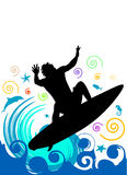 Surfing Vector Royalty Free Stock Photography