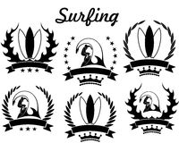 Surfing. Vector illustration (EPS 10 Royalty Free Stock Image