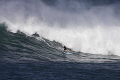 Surfing Waimea Royalty Free Stock Image