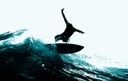 Surfing the Wave Royalty Free Stock Images