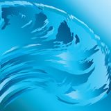 Surfing wave Stock Image