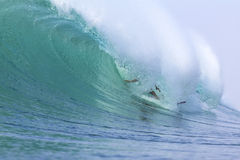 Surfing a Wave. Bali Island. Indonesia. Stock Image