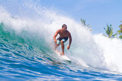 Surfing a Wave. Bali Island. Indonesia. Picture of Surfing a Wave. Bali Island. Indonesia royalty free stock images