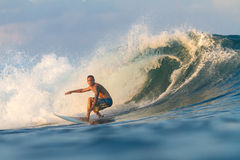 Surfing a Wave. Stock Photos