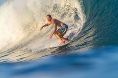 Surfing a Wave. Royalty Free Stock Image