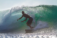 Surfing a Wave. Royalty Free Stock Images