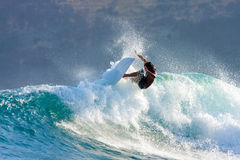 Surfing a Wave Stock Image