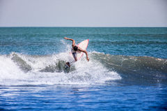 Surfing on the wave Royalty Free Stock Images
