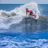 Surfing on the wave Royalty Free Stock Photos