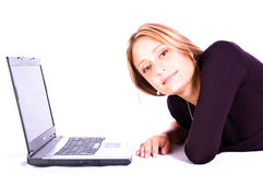 Surfing the web Stock Photography