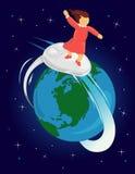 Surfing the web stock illustration
