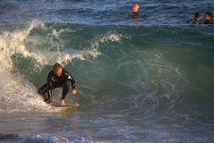 Surfing The Wedge Stock Image