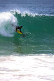 Surfing The Wedge Stock Images